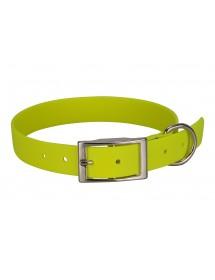 Collier Biothane Beta 25mm 55cm Jaune Alpin'Dog