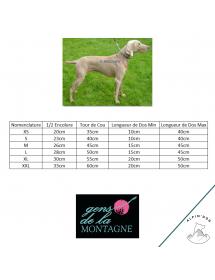 Harnais Canicross Réglable grille de taille Gens de la Montagne Alpin'Dog