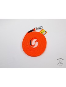 Longe Biothane 10 mètres Avec Poignée Orange Alpin'Dog