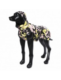 Parka Rukka Pets Stream Corail/Jaune Alpin'Dog