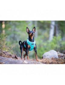 Mini Harnais Rukka Pets Laser Turquoise Alpin'Dog Promenade