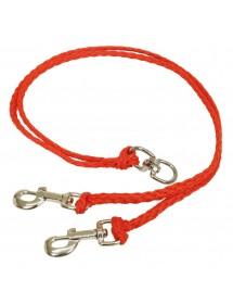 Coupleur 2x90cm Rouge Alpin'Dog