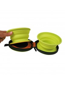 Gamelle Silicone Double 375ml Alpin'Dog Housse