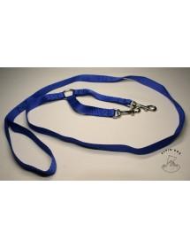 Laisse accouple nylon 20mm*20cm/1,50m Bleu Alpin'Dog