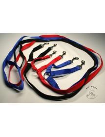 Laisse accouple nylon 20mm*20cm/1,50m 3 Couleurs Alpin'Dog
