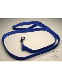 Laisse nylon 25mm*1,20m Bleu Alpin'Dog