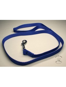 Laisse nylon 20mm*1,20m Bleu Alpin'Dog