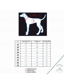 Ciré Rukka Pets Jaune Alpin'Dog Taille