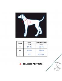 Harnais Neewa d'utilité Bleu Alpin'Dog Taille