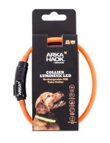 Collier LED Rond 35cm Orange Martin Sellier Alpin'Dog