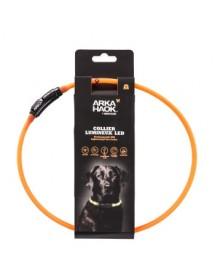 Collier LED Rond 70cm Orange Martin Sellier Alpin'Dog
