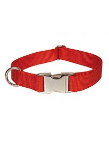 Collier Nylon Réglable 30/45cm Rouge Alpin'Dog
